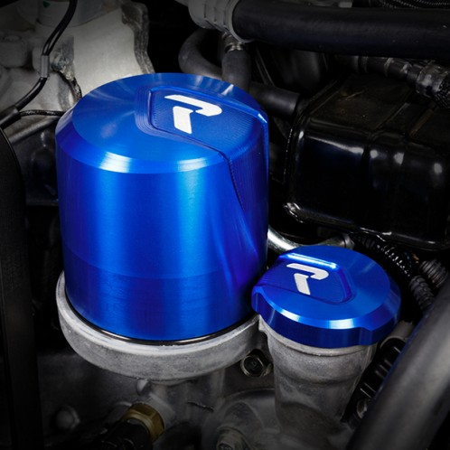 Raceseng Oil Dome and Fill Cap Silver for FRS and BRZ Installed