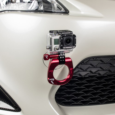 Raceseng Tug View Tow Hook and Go Pro Mount for Scion FRS and Subaru BRZ Installed Front