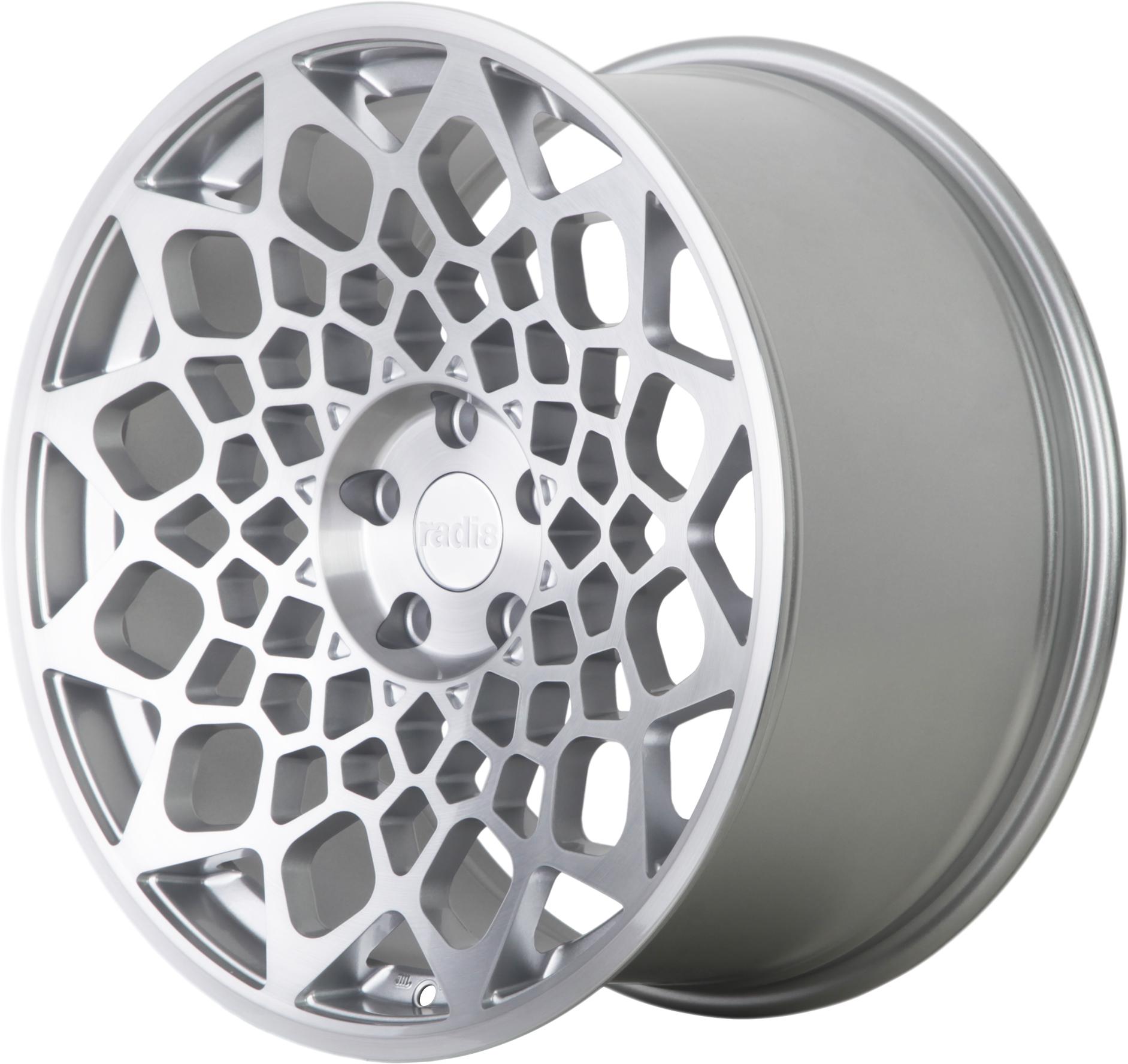 Radi8 R8B12 wheels in Matte Silver for BMW