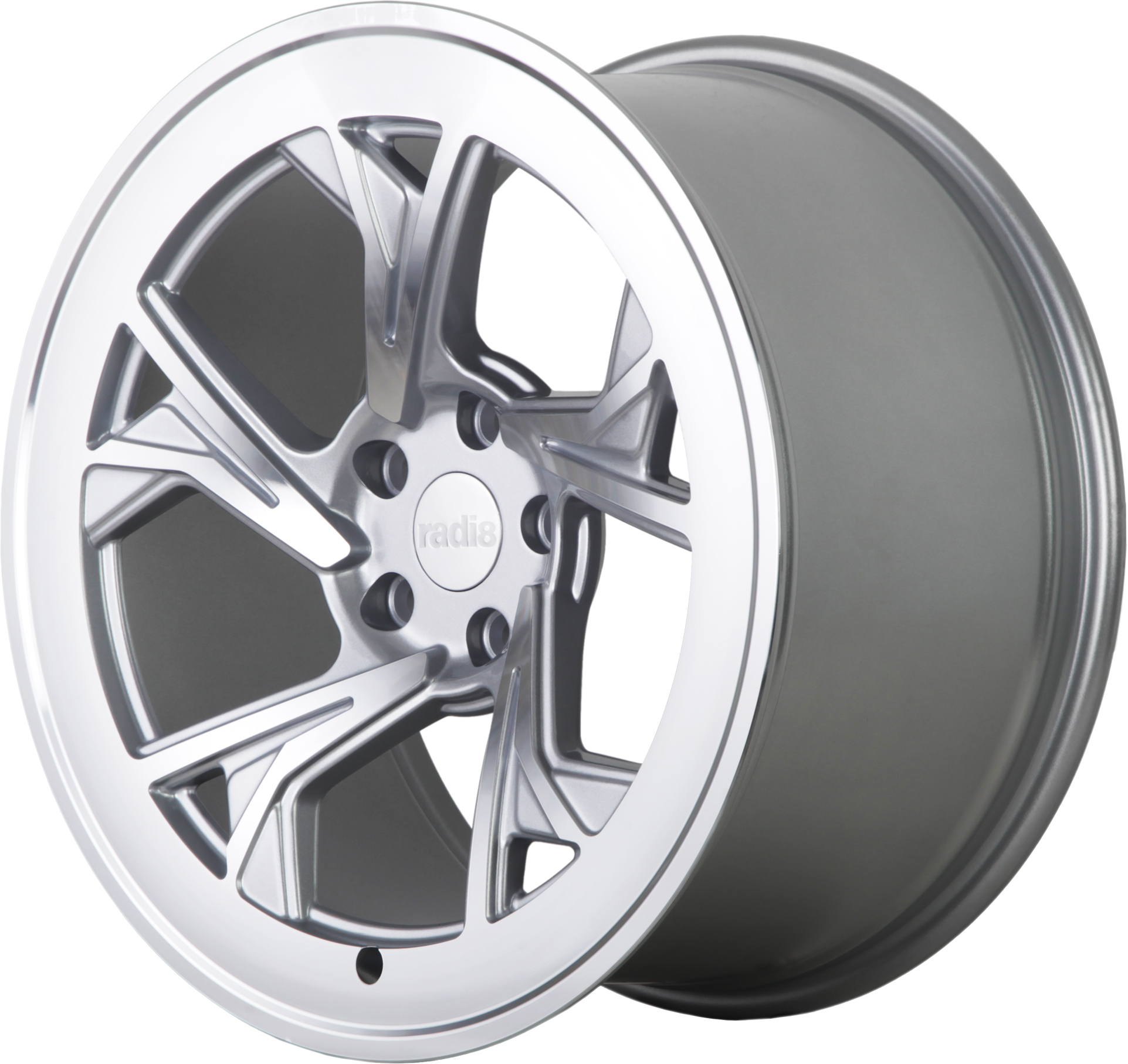 Radi8 R8C5 wheels in Matte Silver for VW