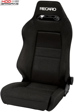 Recaro Speed S Black Avus w/ White Logo