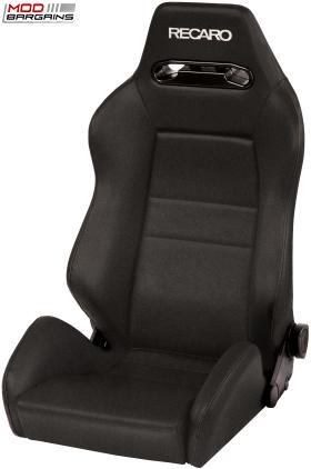 Recaro Speed Black Avus w/ White Logo