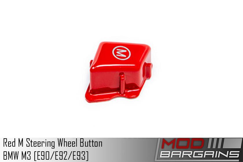 Red M Button for E9X BMW M3 9X-REDM E90 E92 E93