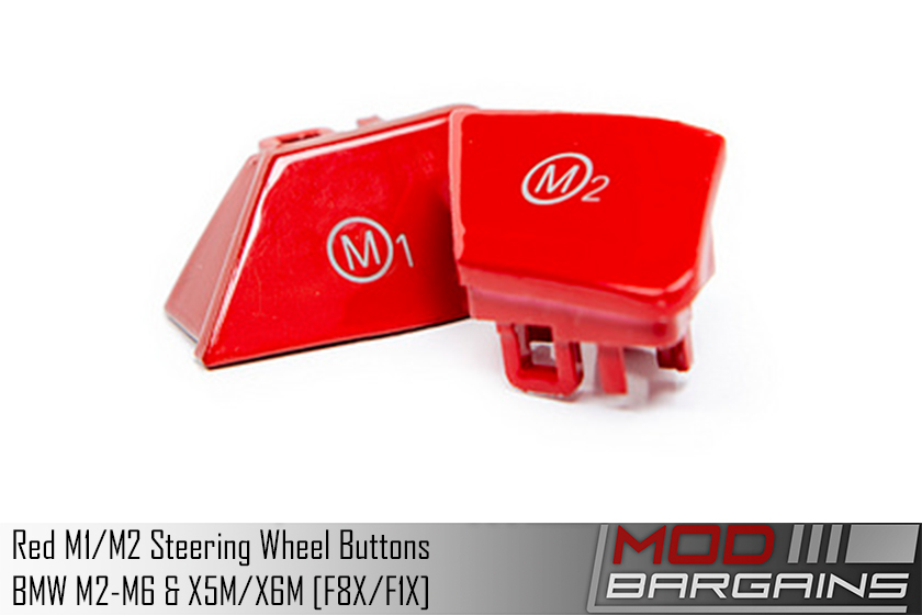 Red M1/M2 Buttons for [F8X/F1X] BMW M2-M6 & X5M/X6M RM1-F8X