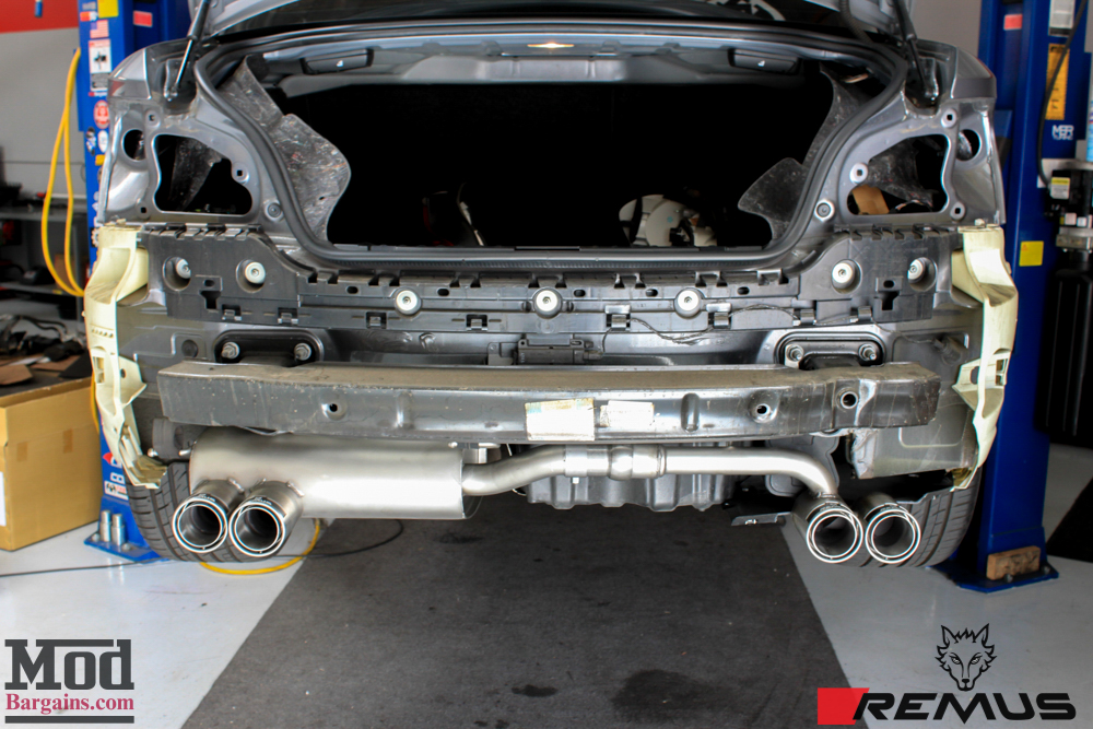 Remus Sport Exhaust System Installed on BMW F30