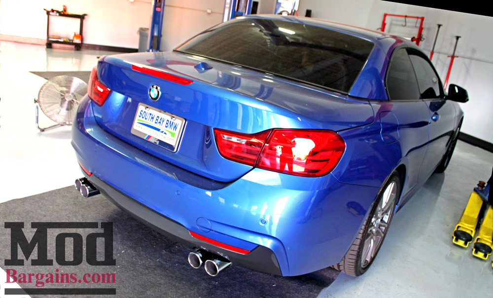 Remus Exhaust for BMW 428i Quad Exhaust with Polished Tips at ModBargains.com Installed 1