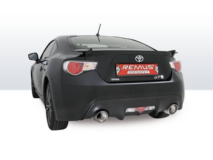 REMUS Sport Exhaust, Rear Muffler Installed