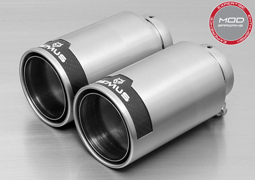 BMW F87 M2 Brushed Stainless Carbon/Chrome Remus Exhaust Tips Modbargains
