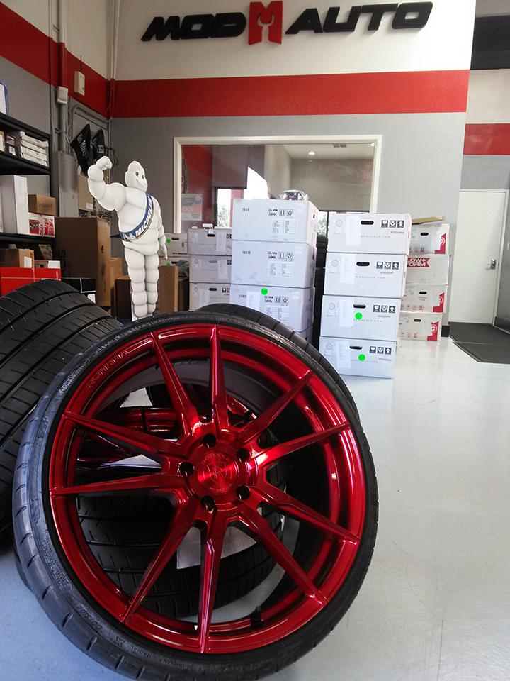 Rohana Gloss Red Wheels at Mod Bargains