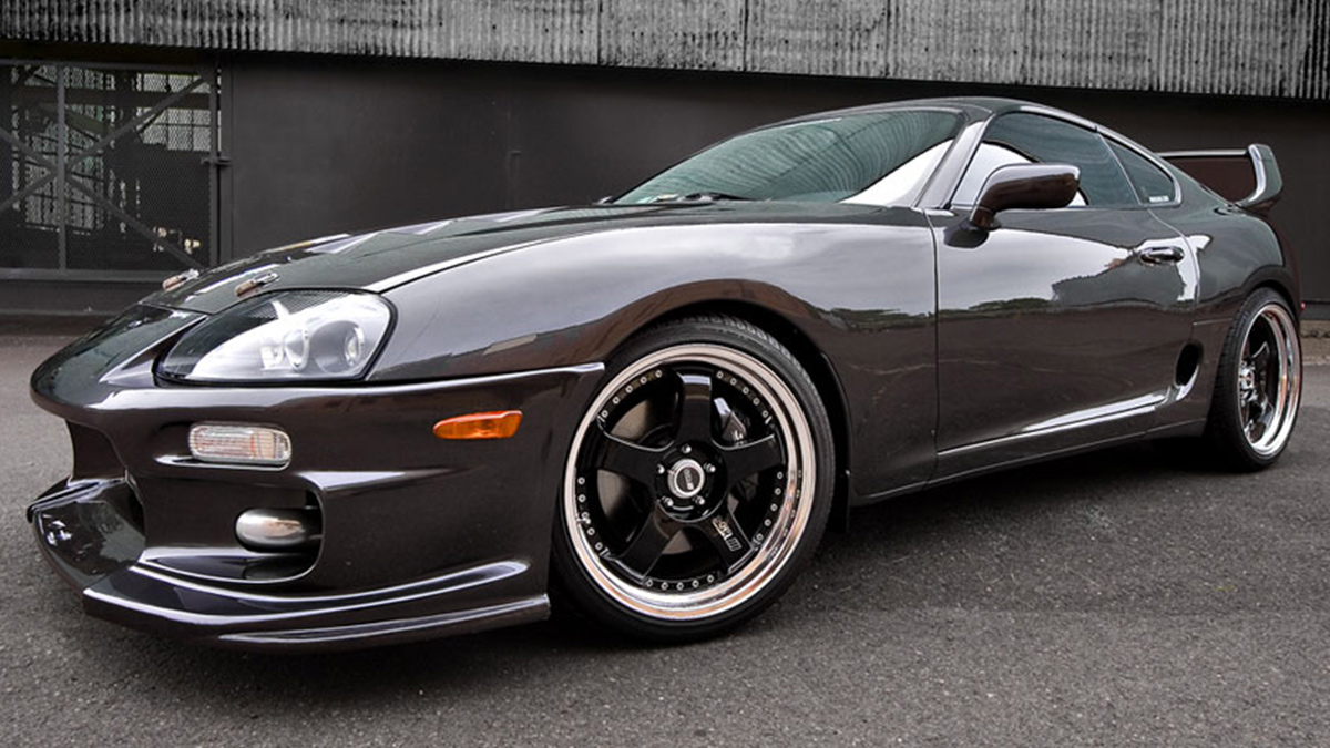 2JZ SUPRA BIG SPOILER ssr SP1 silver wheels modbargains