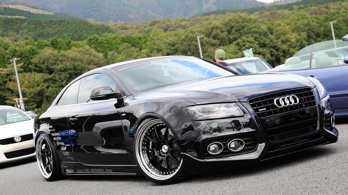 Audi A5 S5 RS5 sline lowered on ssr sp3 wheels, black Modbargains