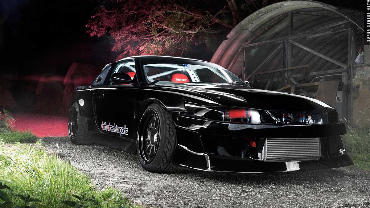 2jz nissan s14 on black ssr sp3 wheels turbo lowered drift, modbargains