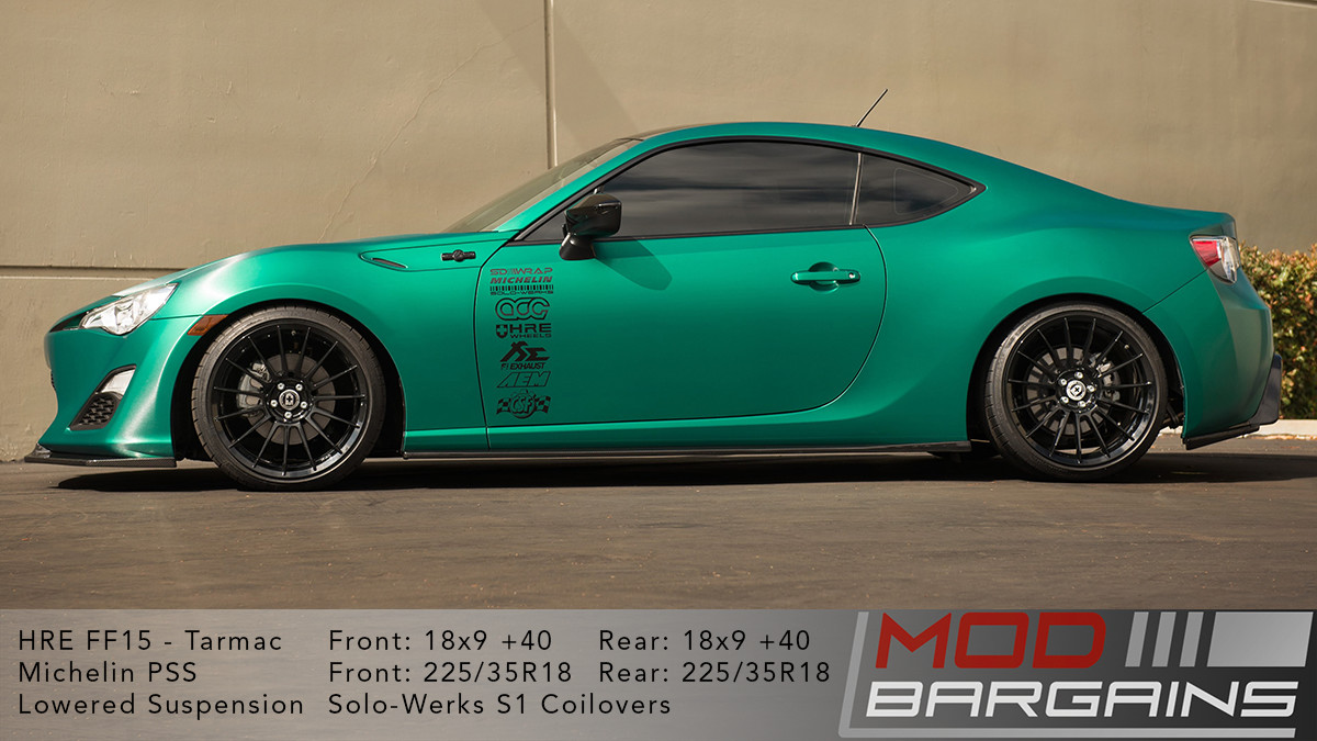 S1TY001 Solowerks S1 Coilovers Scion FRS Subaru BRZ Toyota 86