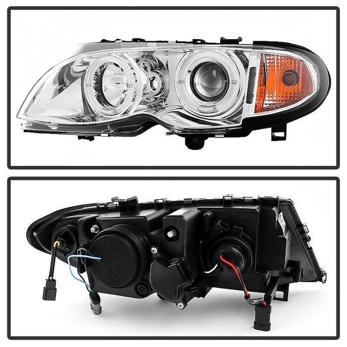 Spyder Chrome Projector LED Halo Headlights for 2002-2005 E46 BMW 325i/ 328i/ 330i Sedan