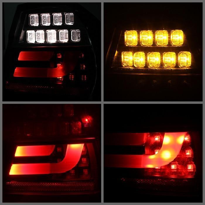 Spyder Black Lightbar Style LED Tail Lights for 2006-2008 E46 BMW 325i/ 328i/ 330i Sedan ALT-YD-BE9006-LBLED-G2-BK