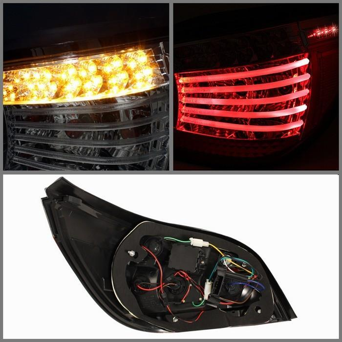 Spyder LED Smoked Tail Lights for 2004-2007 BMW 525i/530i/535i/550i/M5 [E60] ALT-YD-BE6004-LED-SM