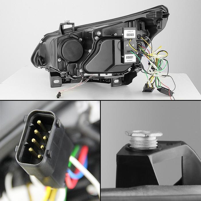 Spyder Black CCFL Halo Projector Headlights for 2004-2007 BMW 525i/530i/535i/550i/M5 [E60] PRO-YD-BMWE6004-CCFL-BK