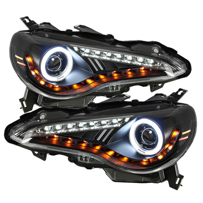 Spyder HALO Projector Black DRL/LED for 2013+ Scion FR-S/ BRZ [ZN6] PRO-YD-SFRS12-CCFL-BK
