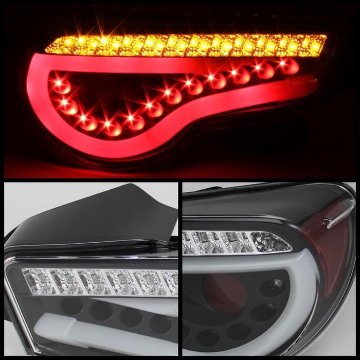 Spyder LED Lightbar Black Tail Lights for 2012-15 Scion FR-S/Subaru BRZ SFRS12-LBLED-BK