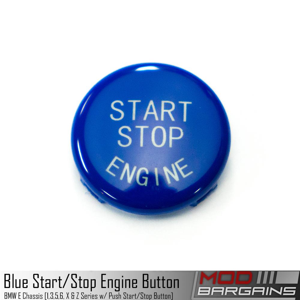 BMW Start Stop Blue Button for E Chassis vehicles. E82 E90 E91 E92 E93 E60 E63