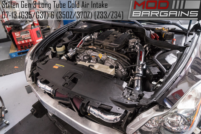 Stillen Gen 3 Long Tube Cold Air Intake For 2007 13 Infiniti G35 G37 Nissan 350z 370z Z33 Z34
