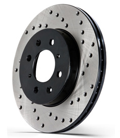 StopTech Drilled Rotors: Audi A4/S4 B8