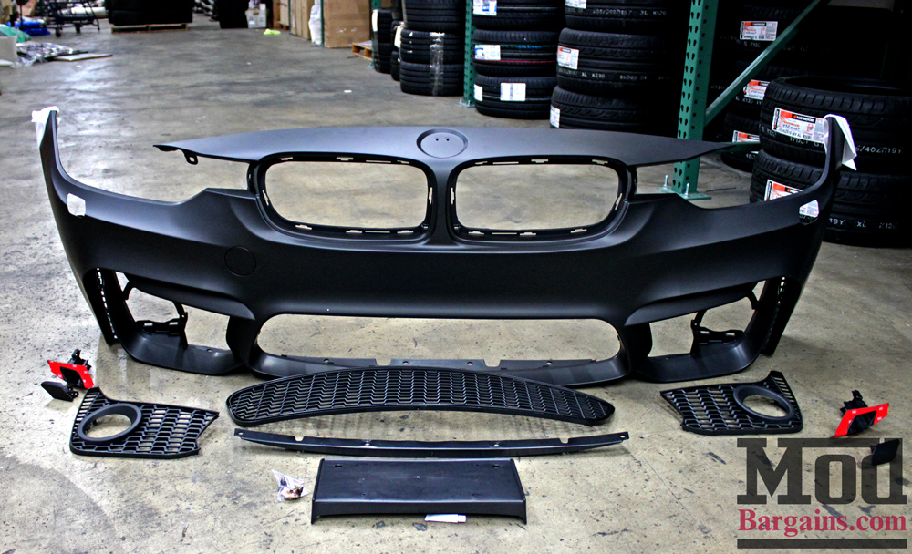 M3 Style Front Bumper (F80/F82) for 2012-15 BMW 3-Series 4-Series [F30/F32] with Fog Lights
