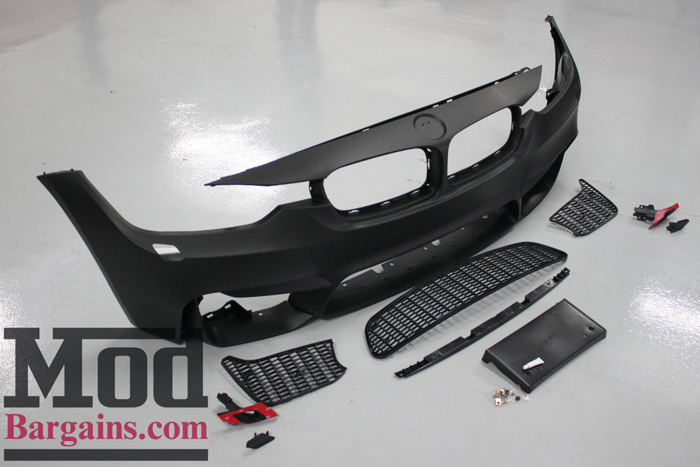 M3 Style Front Bumper (F80/F82) for 2012-15 BMW 3-Series 4-Series [F30/F32] with Air Ducts