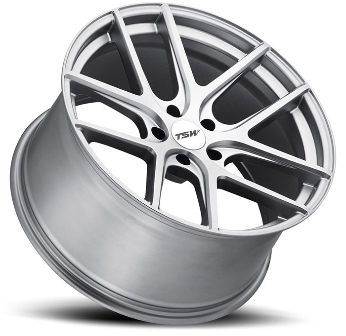 TSW Geneva Wheels in Matte Titanium Silver Ford