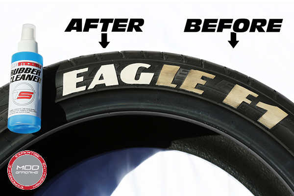 Tire Stickers Cleaner Before & After