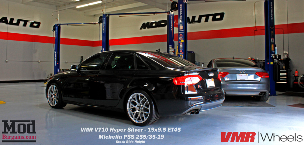 VMR V710 Hyper Silver 5x112 19x9.5 ET45 Michelin Pilot Super Sport 255/35-19 on B8.5 Audi S4