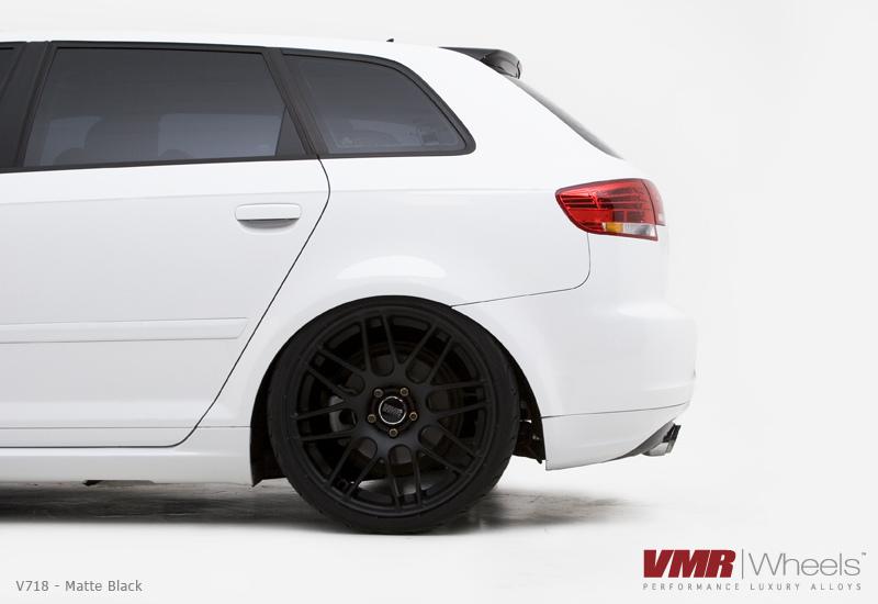 VMR V718 Wheels Matte Black on White 8P Audi A3