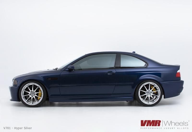 VMR Wheels V701 Advan RS Style on Blue E46