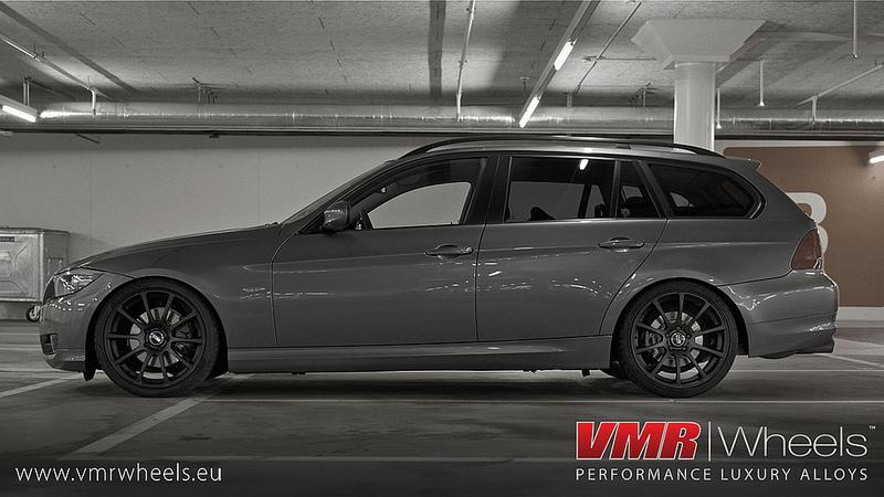 VMR Wheels V701 Advan RS Style Matte Black BMW Side View