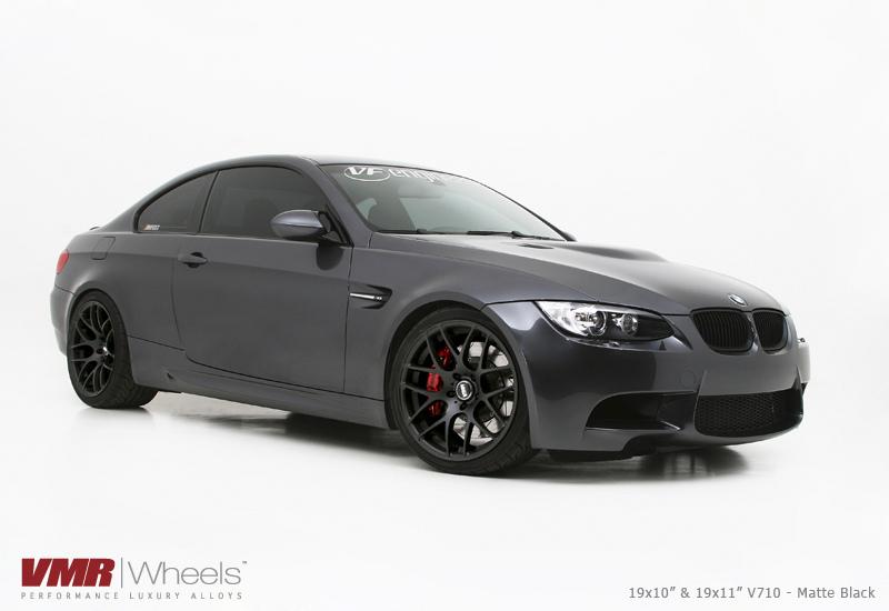VMR Wheels V710 Matte Black 18inch Non Staggered Graphite M3