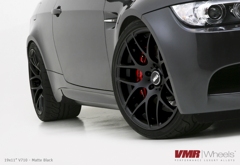 VMR Wheels V710 Matte Black 18inch Non Staggered M3
