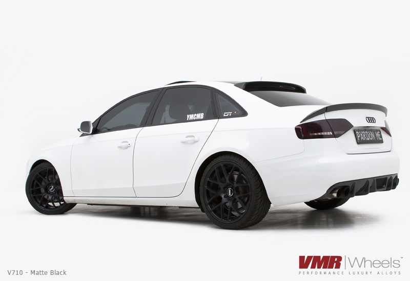 VMR V710 Matte Black on White Audi