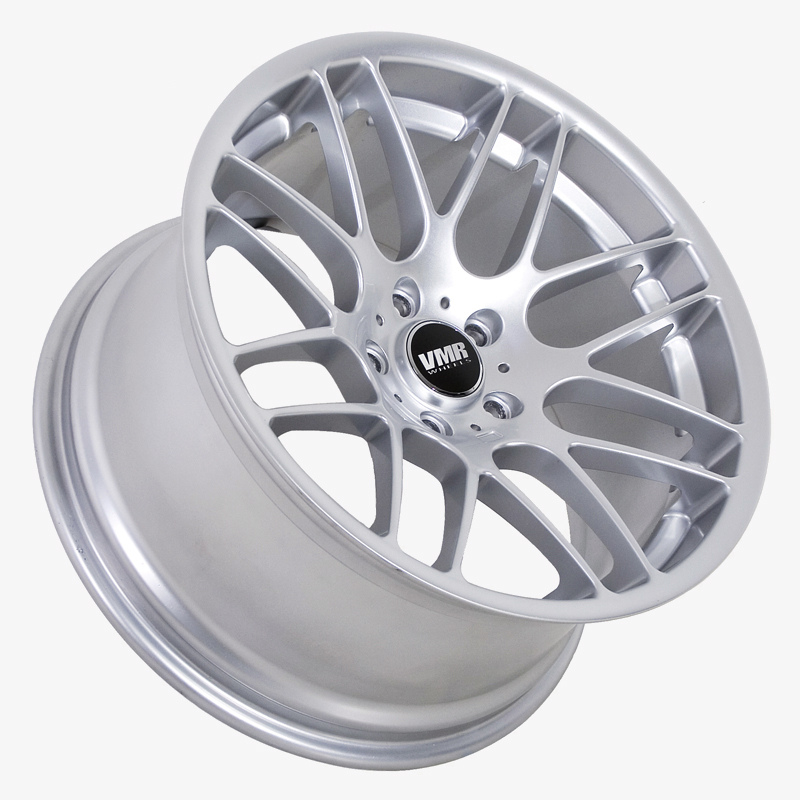 "VMR Wheels VB3 CSL Style 18"" Staggered Silver Angle"