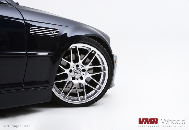 VMR Wheels VB3 CSL Style Non-Staggered Super Silver on E46 M3