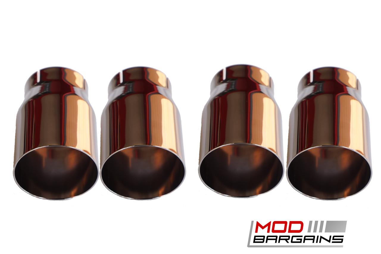 VRSF 90mm Chrome Black Tips for 14+ BMW M3 & M4 F80 F82