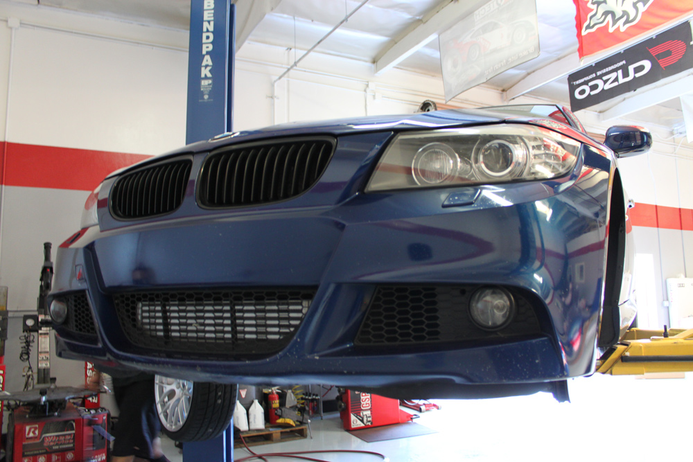 VRSF Intercooler for E90 E92 E82 135i 335i Installed View 2