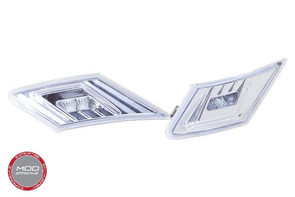 Chrome Side Markers w/ Amber LED and White LED running light