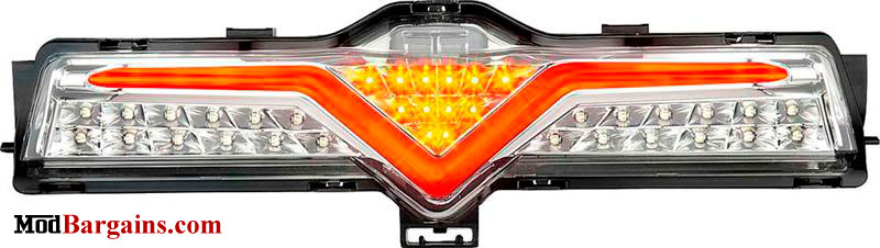Valenti 3rd Brake Light Orange & Chrome