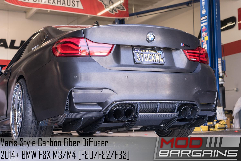 Varis Style Complete Carbon Fiber Rear Diffuser set for F8X BMW M3/M4