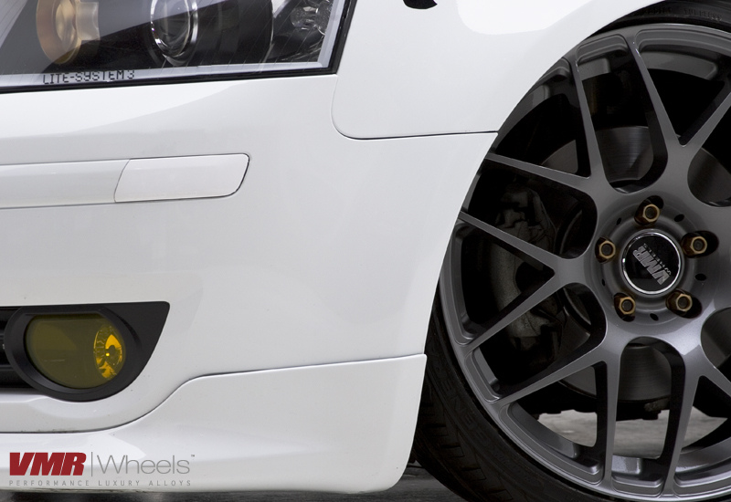 VMR Wheels V710 Gunmetal on White Audi A3 Close-up