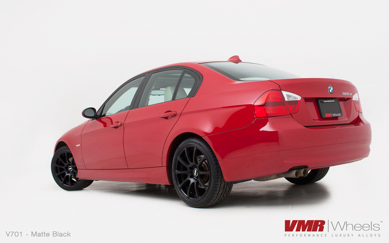 VMR Wheels V701 Advan RS Style Matte Black Finish