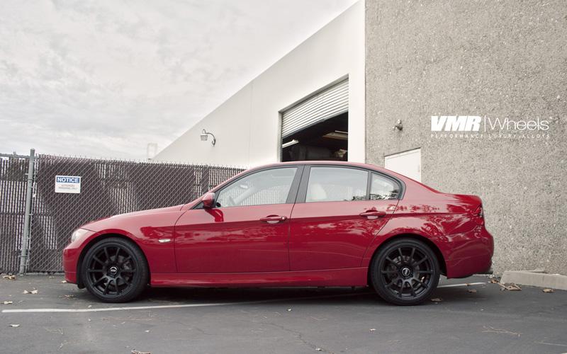 VMR Wheels V701 Advan RS Style Matte Black E90 Side View