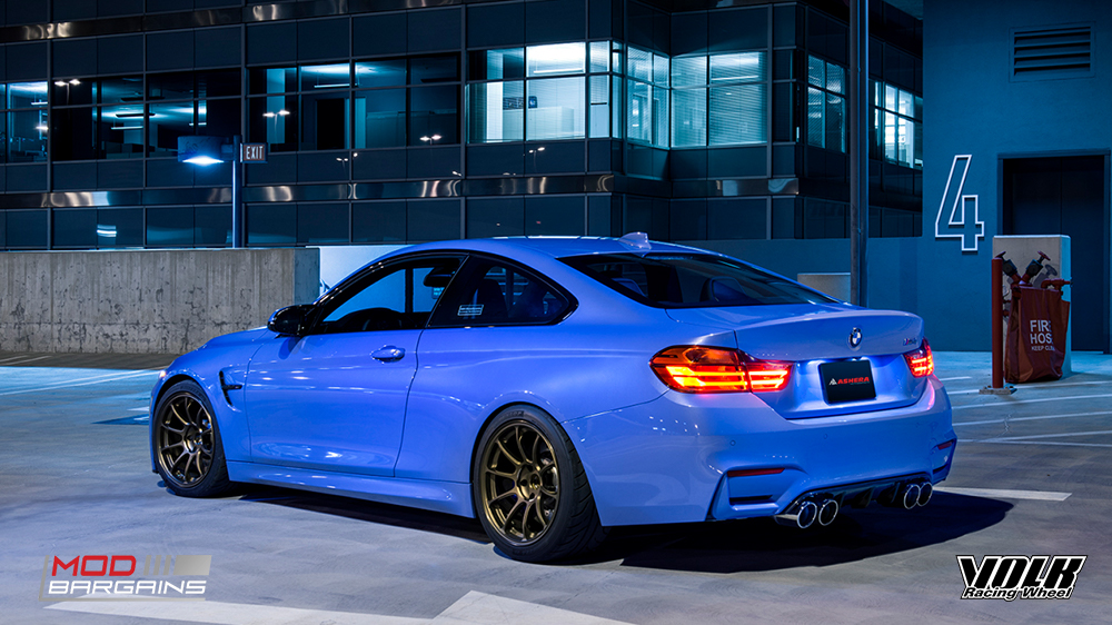 ze40 matte blue gunmental bronze lowered track, volk racing bmw 5x120 m3 m4 m5 m2 1m RAYS modbargains E82 F80M3 F82M4