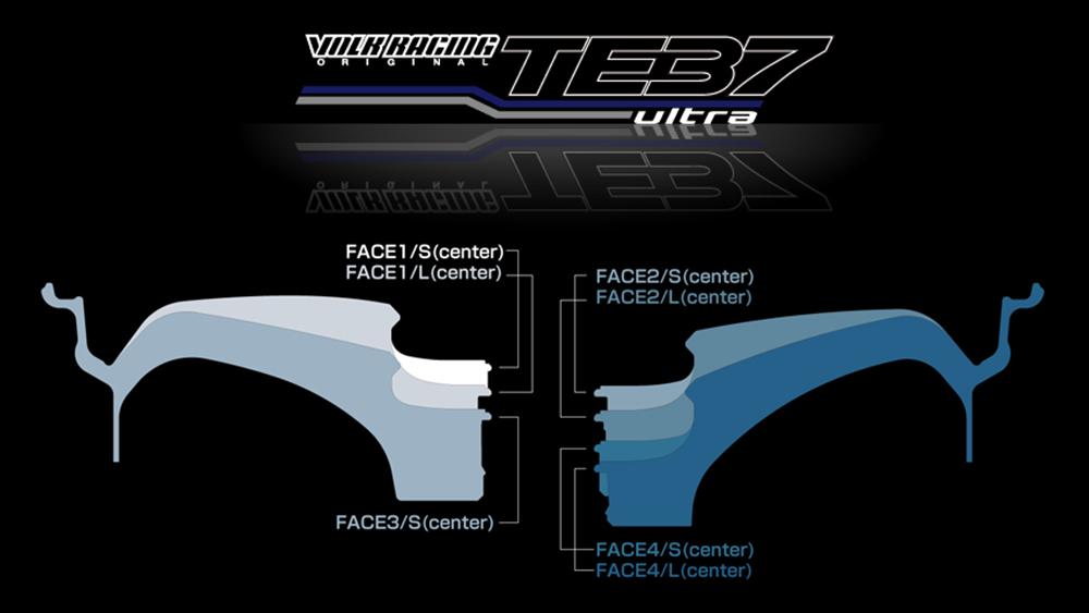 Modbargains Volk racing te37SL JDM bmw m3 m2 m4 1m Face 1 face 2 face 3 face 4, Lowered track RAYS