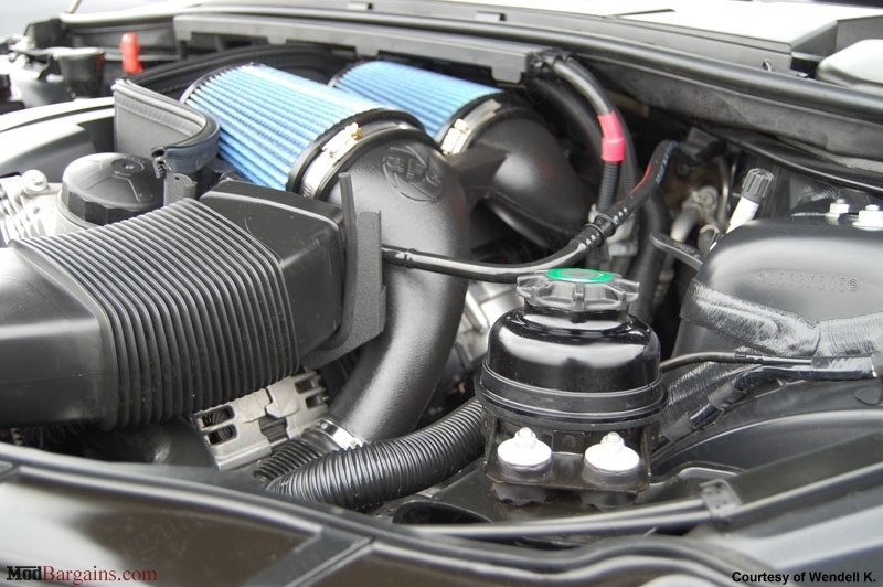 aFe Power Magnum Force Stage-2 Intake for BMW 335i 1M 535i Z4 35i N54 Twin Turbo 3.0L at ModBargains.com installed in BMW 335i E92 5